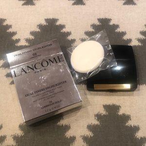 Lancôme dual finish highlighter, 02 luminous gold